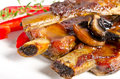 Roasted ribs burnt Royalty Free Stock Photo