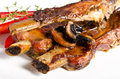 Roasted ribs burnt Stock Image