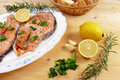 Roasted Salmon Stock Photography