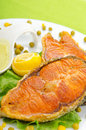 Roasted salmon Stock Images