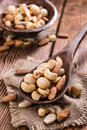 Roasted and salted nuts (mixed) Royalty Free Stock Photo