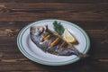 Roasted sea fish Royalty Free Stock Photo