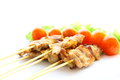 Roasted skewered pork Royalty Free Stock Image