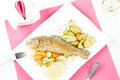 Roasted trout Royalty Free Stock Photo