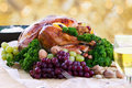 Roasted turkey for the holidays Stock Images