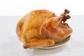 Roasted Turkey on white Royalty Free Stock Photo