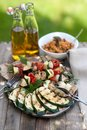 Roasted vegetables on a plate Royalty Free Stock Photography