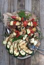 Roasted vegetables on a plate Stock Photography
