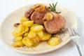 Roasted whole pork tenderloin Royalty Free Stock Photo