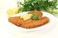 Roasted  Wiener Schnitzel Royalty Free Stock Images