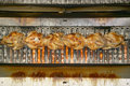 Roasting Chickens, Caf�, Antibes, France