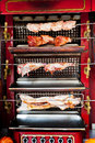 Roasting pig lamb chicken spit roaster Royalty Free Stock Photography