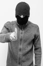 Robber with knife threatening you Royalty Free Stock Photos