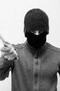 Robber with knife threatening you motion blur as he attacks Stock Images