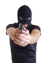 Robber with masked Royalty Free Stock Photo
