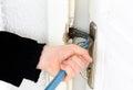 Robbery, burglar Stock Images
