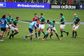 Robbie henshaw in action in the rbs championship match italy vs ireland at rome in italy Royalty Free Stock Image