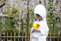 Robe de mariage traditionnelle japonaise Photo stock