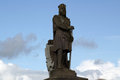 Robert bruce statue impressive of at stirling castle Stock Images