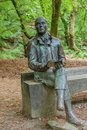 Robert burns aberfeldy statue to at the birks o Stock Images