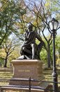 Robert burns famous statue of the scottish poet on the poet s walk in central park in new york city the surrounding area is famous Royalty Free Stock Images