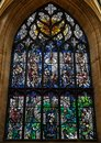 Robert Burns stained glass window inside St Giles cathedral, Edinburgh Royalty Free Stock Photo