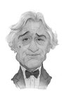 Robert De Niro Caricature Sketch Stock Photography