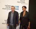 Robert deniro and grace hightower oscar winning actor tribeca film festival co founder wife arrive on the red carpet for the Royalty Free Stock Images