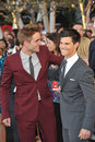 Robert Pattinson,Taylor Lautner Stock Photos