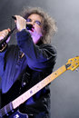 Robert smith singer and guitarist of the legendary rock band the cure barcelona spain june performs at san miguel primavera sound Royalty Free Stock Photography