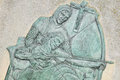 Robin hood basrelief depicting at nottingham castle england Stock Photos