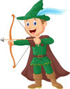 Robin hood cartoon illustration of Royalty Free Stock Photography