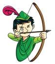 Robin Hood Royalty Free Stock Photo