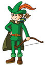 Robin hood lustrator design eps Stock Photography