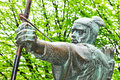 Robin hood statue of in nottingham uk Royalty Free Stock Photo