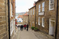 Robin hoods bay street old fashioned in england Royalty Free Stock Photo