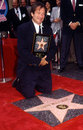Robin williams on walk of fame receiving his star the hollywood hollywood blvd Royalty Free Stock Image
