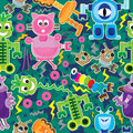 Robot Action Power Seamless Pattern_eps Stock Photography