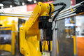 Robot arm in a factory Royalty Free Stock Photo