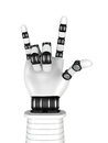 Robot Arm Hand Rock Music Gesturing