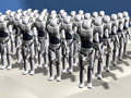 Robot army Royalty Free Stock Photo