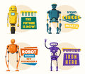 Robot character. Technology, future. Cartoon vector illustration Royalty Free Stock Photo