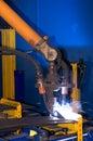 Robot de soudure Images libres de droits