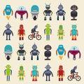 Robot design, vector illustration Royalty Free Stock Photo