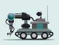 Robot digital design vector illustration eps Royalty Free Stock Photo