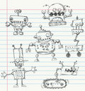 Robot doodles Stock Photo