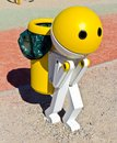 Robot Garbage Can Royalty Free Stock Images