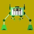 Robot illustration 02 flat design view