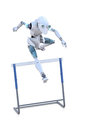 Robot Jumping Hurdle Stock Images