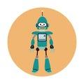 Robot machine engineer circle icon Royalty Free Stock Photo
